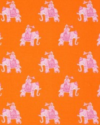 Orange Jungle Safari Fabric  Bazaar Clementine
