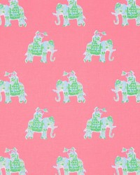Pink Jungle Safari Fabric  Bazaar Tiki Pink