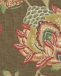 Brown Jacobean Fabrics  Belsome Earth