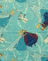 Sisters Tossed Glitter Frozen Fabric by