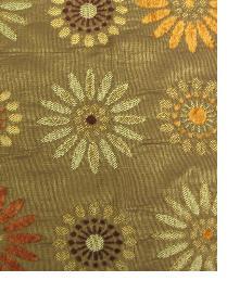 Brown Medium Print Floral Fabric  M7702 5230