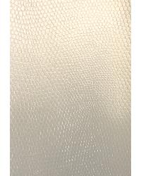 White Animal Skin Fabric  Slicker Pearl