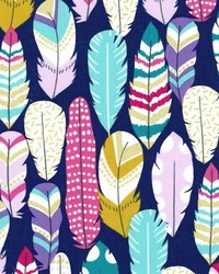 Blue Novelty Western Fabric  Plucked Midnite