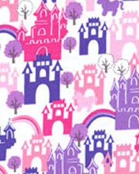 Michael Miller Fabrics Castles in the Sky Pink Fabric