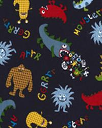 Michael Miller Fabrics Monsters Navy Fabric