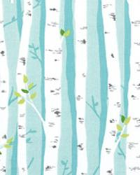 Birch Forest Aqua by  Alexander Henry