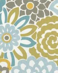 Blue Modern Floral Designs Fabric  Bloomer Spa