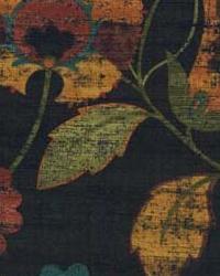 Black Modern Floral Designs Fabric  Isley Jungle