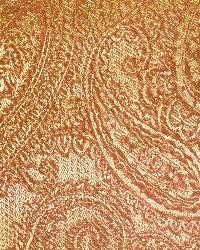 Orange Classic Paisley Fabric  Saturnia Clay