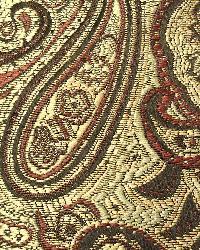 Red Classic Paisley Fabric  Arbor Merlot - 33732
