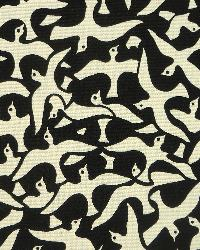 Exotic Tribal Prints Fabric Novel Parasol Noir 35192