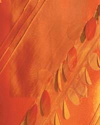 Ribbon Taffeta Fabric  Zermatt Flame Faux Silk 34813