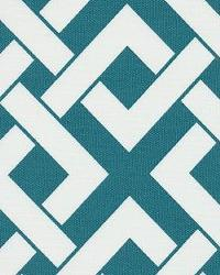 Blue Trellis Diamond Fabric  Boxed In Carribean