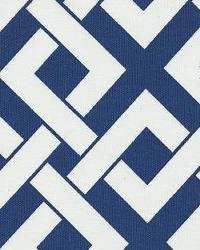 Blue Trellis Diamond Fabric  Boxed In Periwinkle