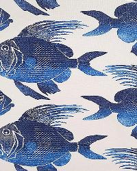 Blue Marine Life Fabric  Fish ODL Navy