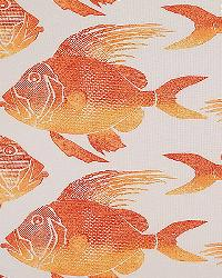 Orange Marine Life Fabric  Fish ODL Orange