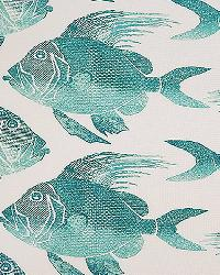 P  Kaufmann Fish ODL Turquoise Fabric