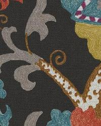 Black Jacobean Fabrics  Ladbroke Har Licorice