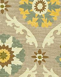 Orien Textiles Mayan Medallion Pebble Fabric