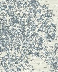 blue french country toile fabric ort toile dove