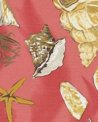 Orien Textiles Sea Shells Coral Fabric