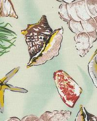 Orien Textiles Sea Shells Green Fabric