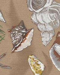 Orien Textiles Sea Shells Mocha Fabric