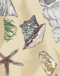 Orien Textiles Sea Shells Sand Fabric