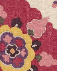 Pink Modern Floral Designs Fabric  Silsila Cherry Blossom