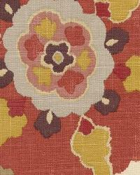 Orange Modern Floral Designs Fabric  Silsila Curry