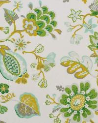 Green Jacobean Fabrics  St Thomas ODL Lime