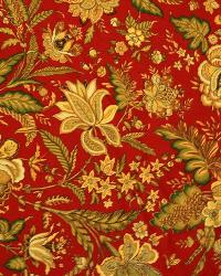 Red Large Print Floral Fabric  2981 Cinnabar