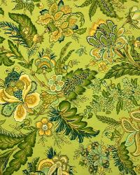 Green Jacobean Fabrics  2981 Wicker