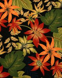 Large Print Floral Fabric  2983 Lava