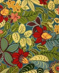 Large Print Floral Fabric  2985 Lagoon