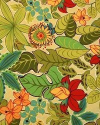 Large Print Floral Fabric  2985 Mango