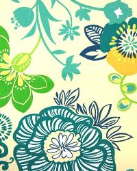 Large Print Floral Fabric  3550 Caribe