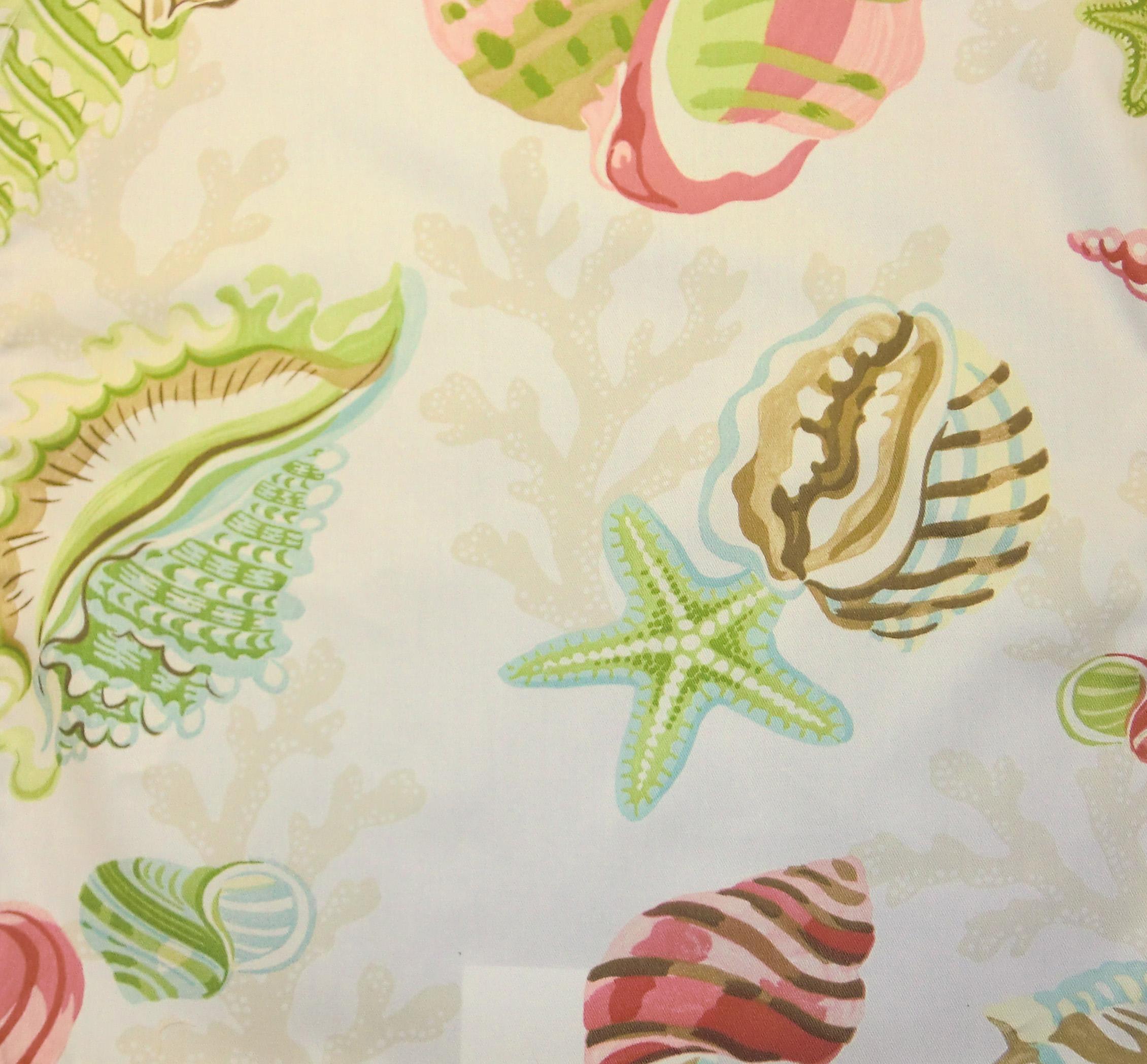 P Kaufmann Fabrics Coral Beach Shell - InteriorDecorating.com