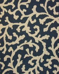 P K Lifestyles SNS Coral Cascade Navy Fabric
