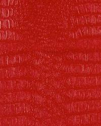 Red Animal Skin Fabric  Gator Red