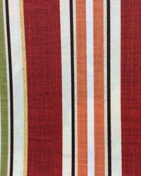 Baja Linen Stripe Cherry Red by