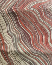 Red Abstract Fabric  Henriot Cinnabar
