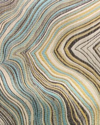 Green Abstract Fabric  Henriot Teal