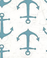 Anchors Coastal Blue Slub by