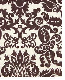 Premier Prints Amsterdam Chocolate - White Slub Fabric