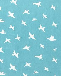 Bird Silhouette Coastal Blue W by