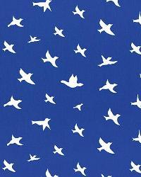 Bird Silhouette Cobalt White by