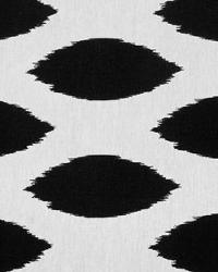 Black Circles and Swirls Fabric  Chipper Black White