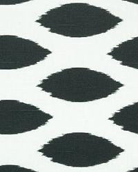 Black Circles and Swirls Fabric  Chipper Charcoal Slub