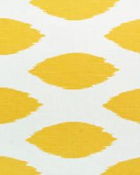 Yellow Circles and Swirls Fabric  Chipper Corn Yellow Slub